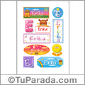 Erika - Para stickers
