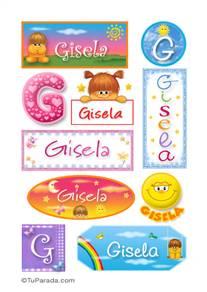 Gisela - Para stickers