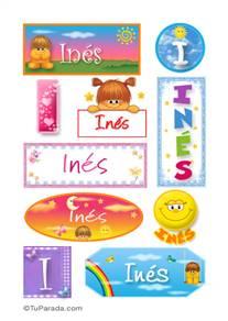 Inés - Para stickers