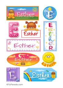 Esther, nombre para stickers