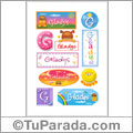 Gladys, nombre para stickers