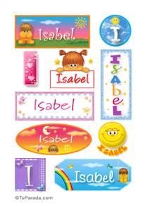 Isabel, nombre para stickers