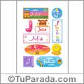 Julia, nombre para stickers