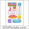 Juana, nombre para stickers