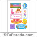 Leonor, nombre para stickers