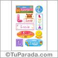 Lucia, nombre para stickers
