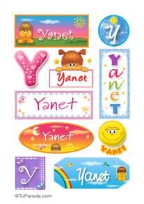Yanet, nombre para stickers