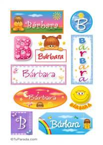 Bárbara, nombre para stickers