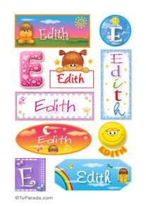 Edith, nombre para stickers