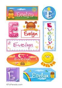 Evelyn, nombre para stickers