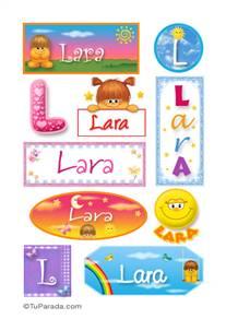 Lara, nombre para stickers