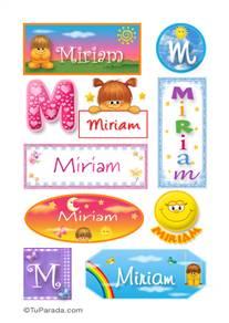Miriam, nombre para stickers