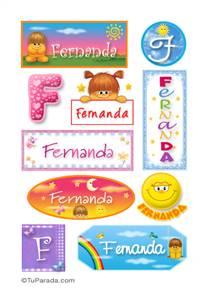 Fernanda, nombre para stickers