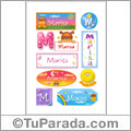 Marisa, nombre para stickers