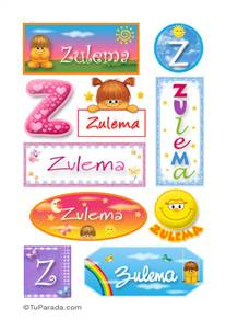 Zulema, nombre para stickers