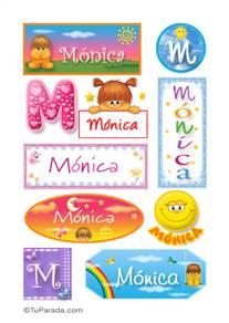 Mónica, nombre para stickers