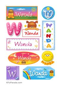Wanda, nombre para stickers