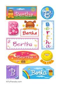 Bertha, nombre para stickers