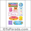 Berta, nombre para stickers