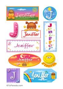 Jeniffer, nombre para stickers