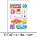 Dixiana, nombre para stickers