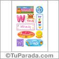 Wendy, nombre para stickers