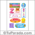 Zoila, nombre para stickers