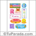 Romina, nombre para stickers