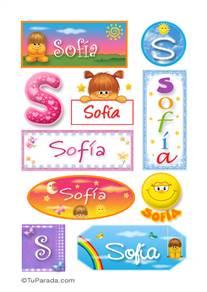 Sofia, nombre para stickers