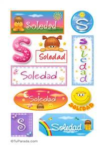 Soledad, nombre para stickers