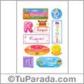 Raquel, nombre para stickers