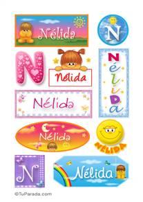 Nélida, nombre para stickers