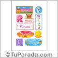 Rosana, nombre para stickers