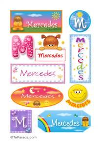 Mercedes, nombre para stickers