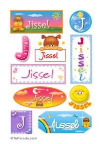 Jissel, nombre para stickers