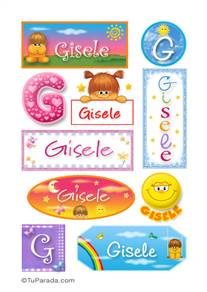 Gisele, nombre para stickers