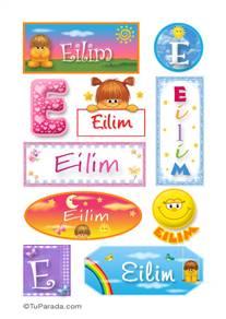 Eilim, nombre para stickers