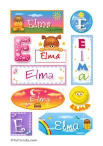 Elma, nombre para stickers
