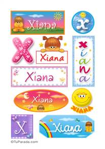 Xiana, nombre para stickers