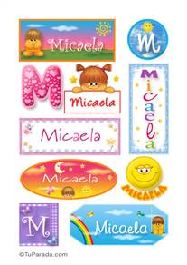 Micaela, nombre para stickers