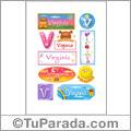 Virginia, nombre para stickers