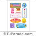 Esperanza, nombre para stickers