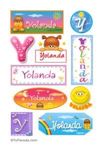 Yolanda, nombre para stickers