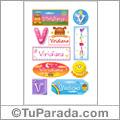 Viridiana, nombre para stickers