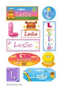 Leslie, nombre para stickers