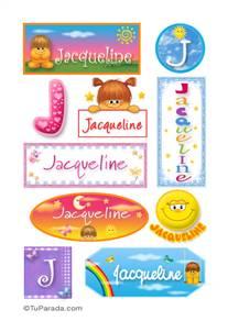 Jacqueline, nombre para stickers