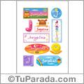 Jorgelina, nombre para stickers