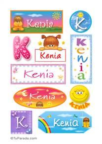 Kenia, nombre para stickers