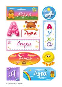 Ayxa, nombre para stickers
