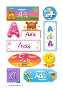 Ada, nombre para stickers